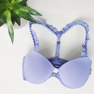 •• aerie}} T-Strap Lacey Lavender Bra || CASUAL